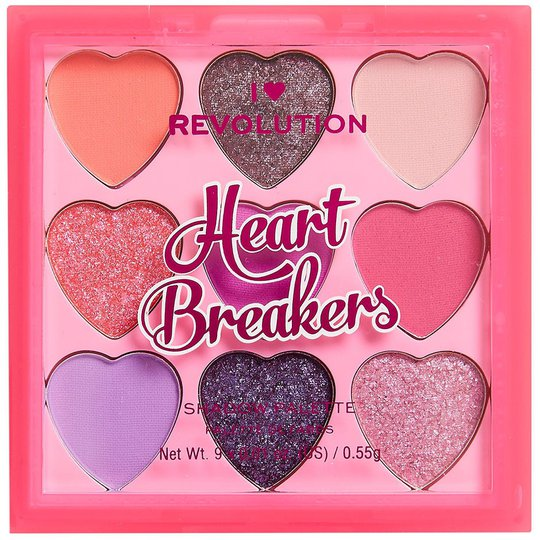 I Heart Heartbreakers Flamboyant Palette, Makeup Revolution Luomiväri