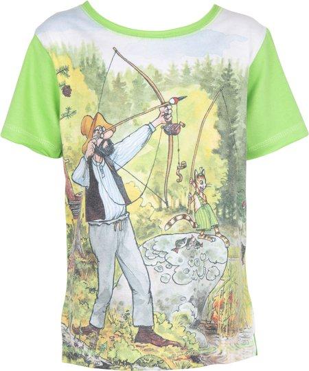 Gubben & Katten T-Shirt, Green , 92