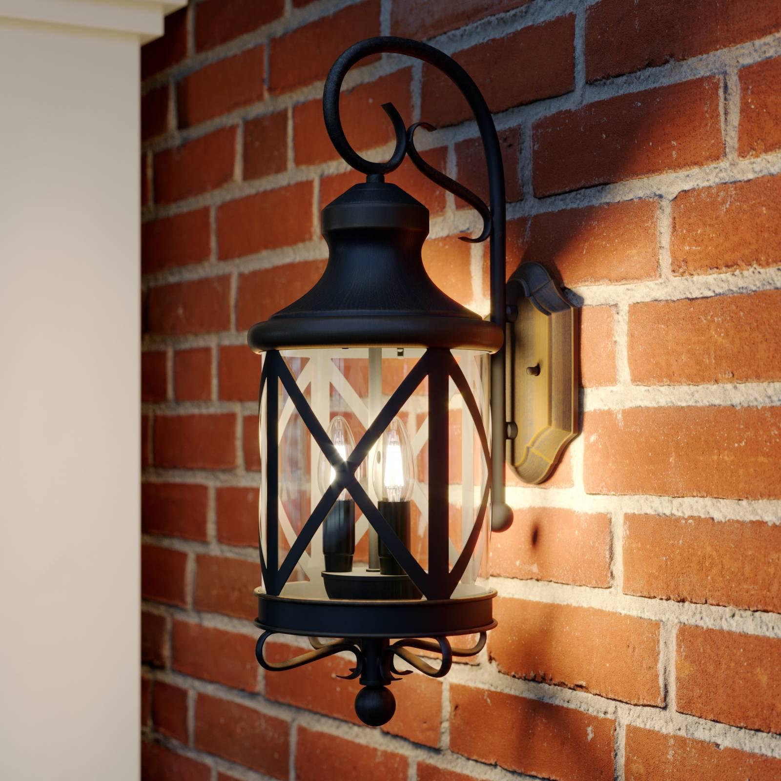 Lucande Marcellino utendørs vegglampe, rustfarger