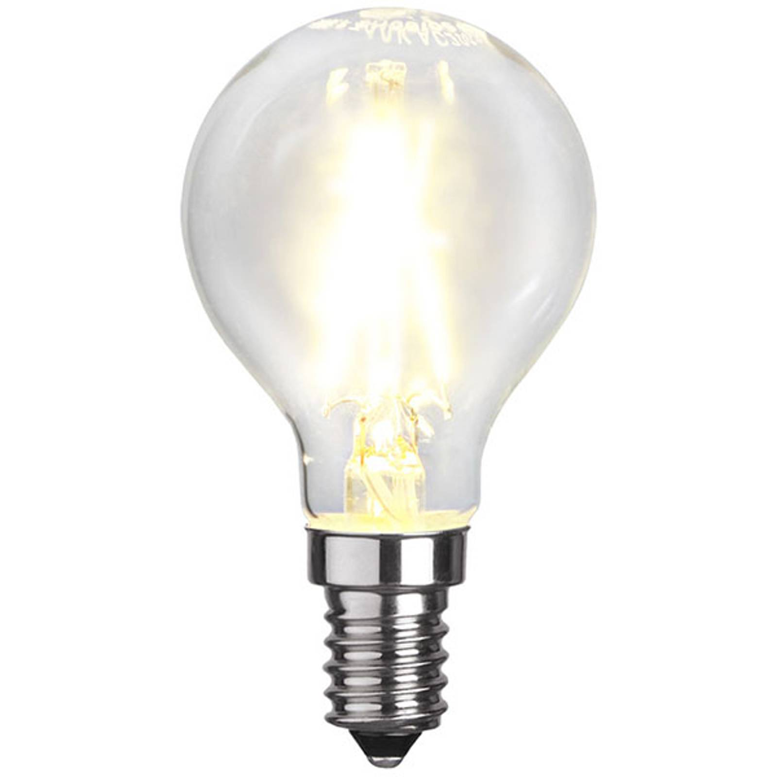 LED-golfpallolamppu E14 P45 2W 2700K filament