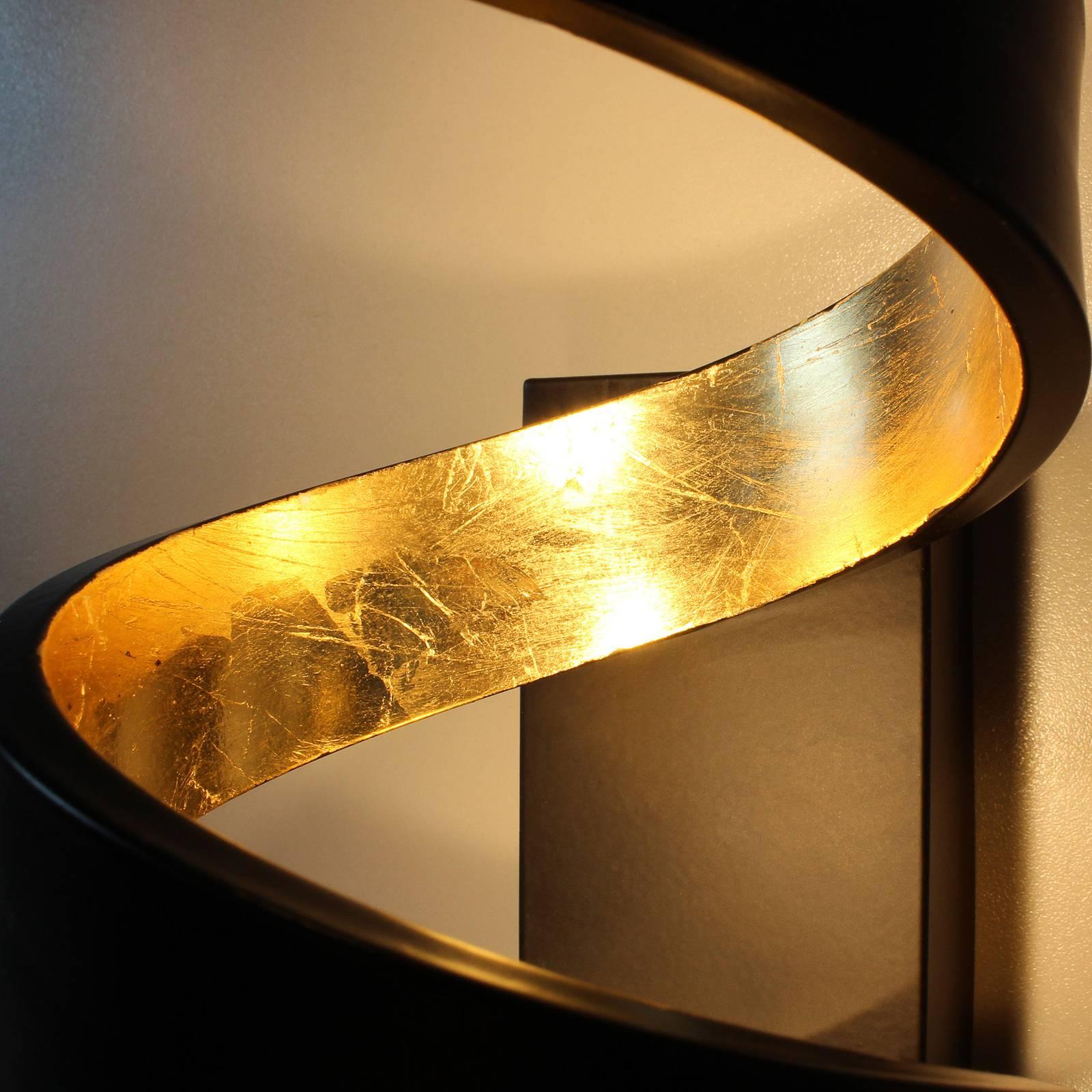 LED-lattiavalaisin Helix, musta- kulta