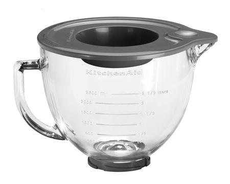 Artisan glass-skål til kjøkkenmaskin klar 4,8 liter