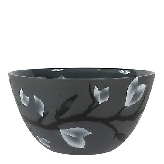 Nybro Crystal - Nippon Skål 24 cm Grå
