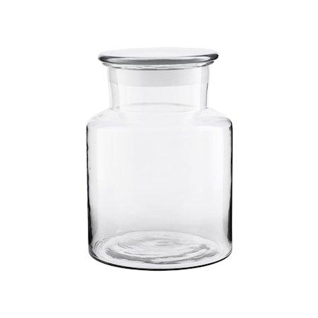 Krukke med Lokk Glass Ø18 cm