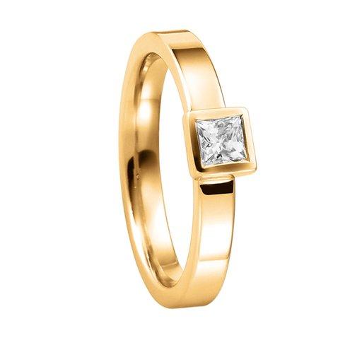 Diamantring i 18K guld, 60