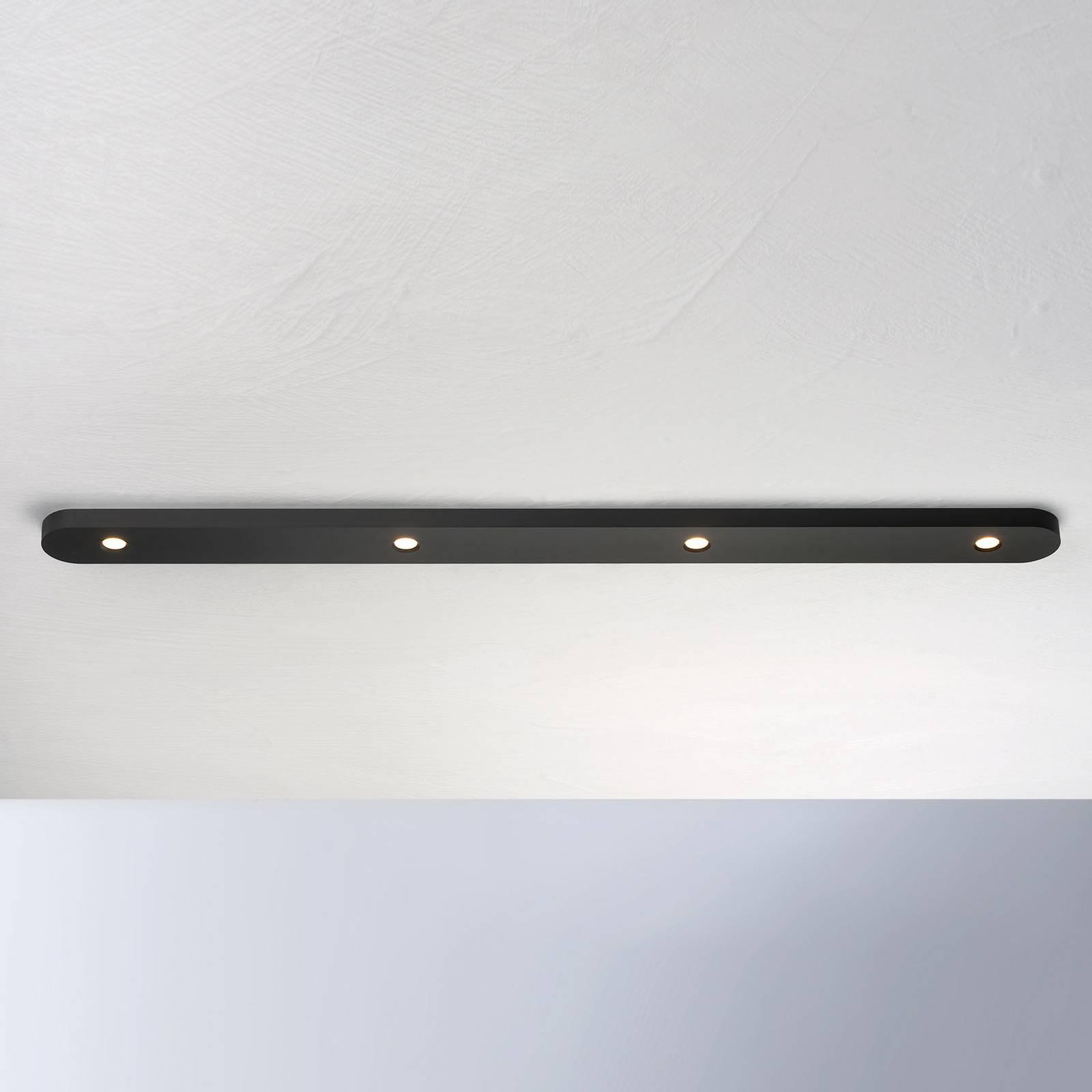 Bopp Close LED-kattovalaisin, 4-lamppuinen, musta
