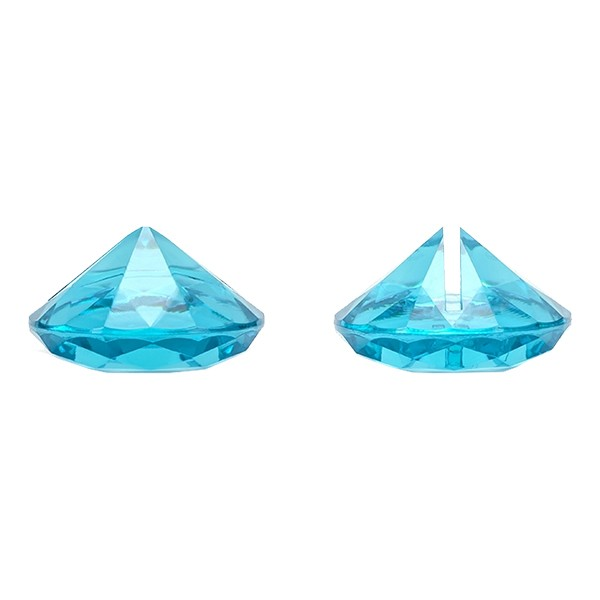 Placeringskortshållare Diamant 10-pack - Turkos