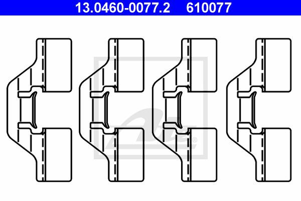 Tarvikesarja, jarrupala ATE 13.0460-0077.2