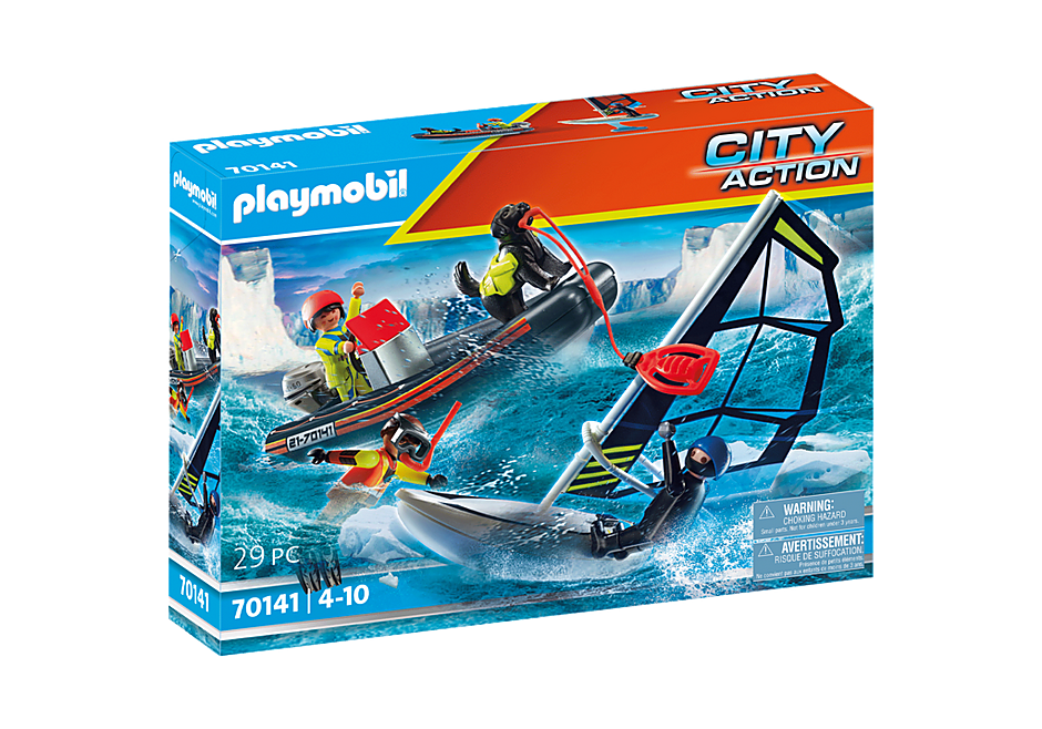 Playmobil - Sea Rescue: Polar Sailor Rescue with Dinghy (70141)