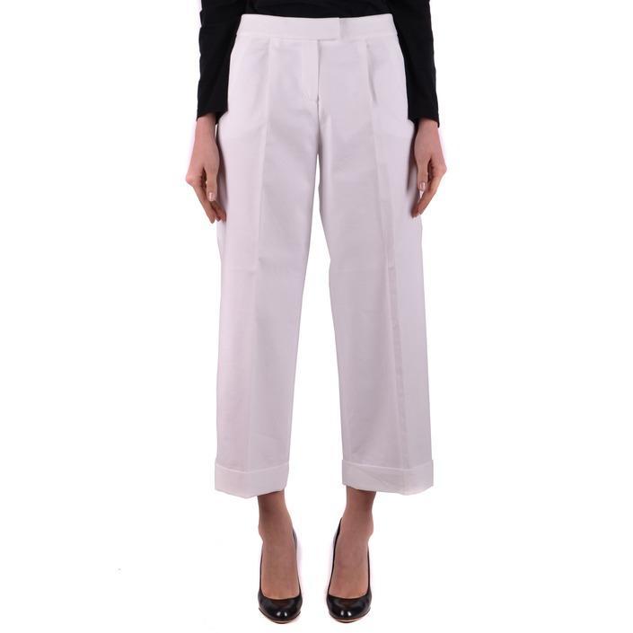 Boutique Moschino Women's Trouser White 162256 - white 40