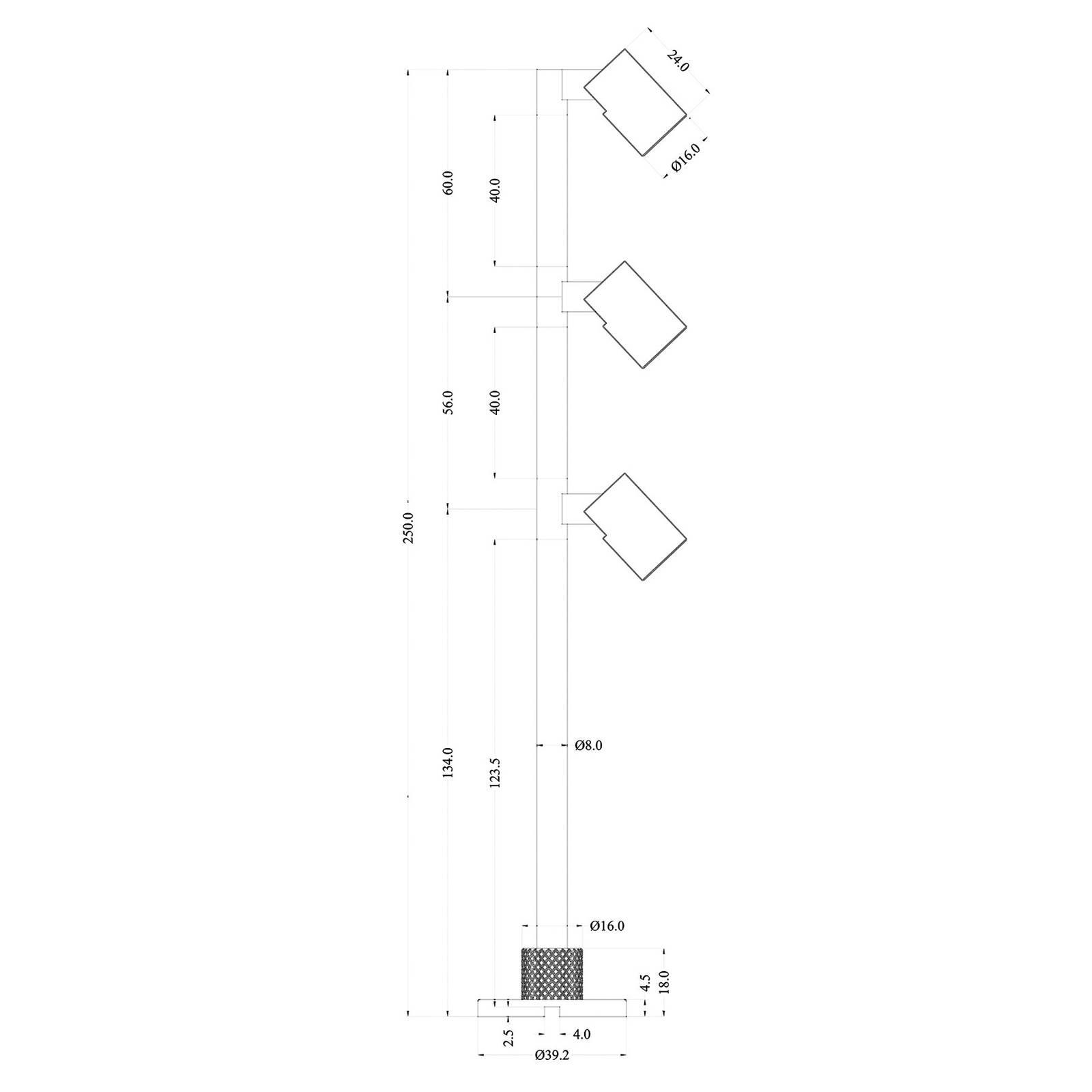 LED-display-valaisin Herculis triple 3 000 K hopea
