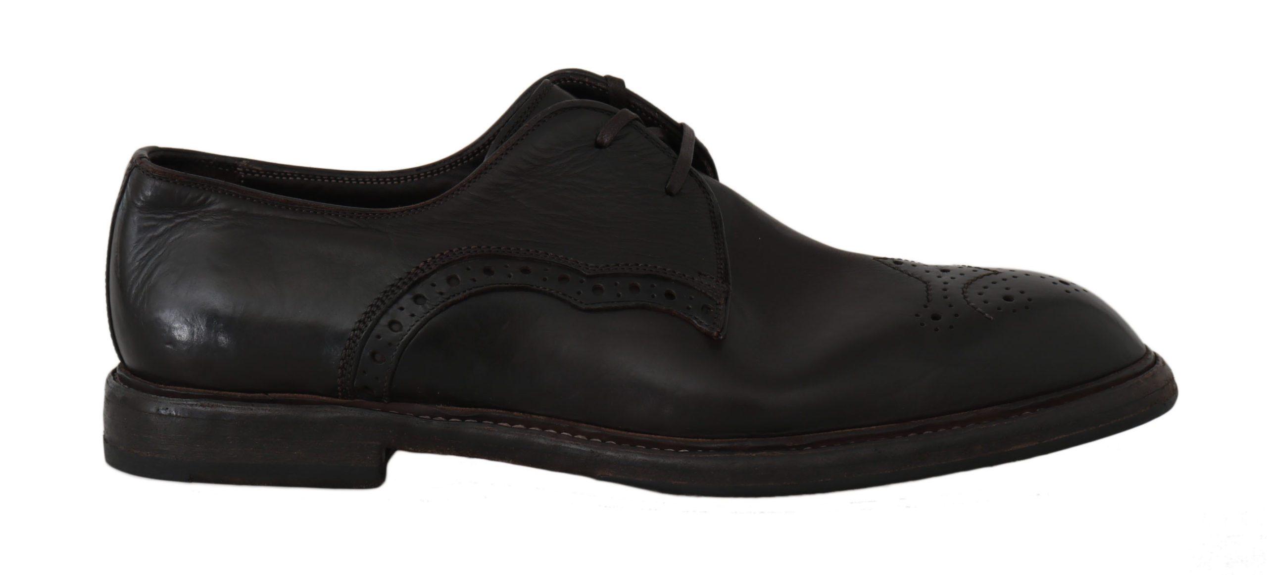 Dolce & Gabbana Men's Leather Marsala Derby Shoes Brown MV2182 - EU39/US6
