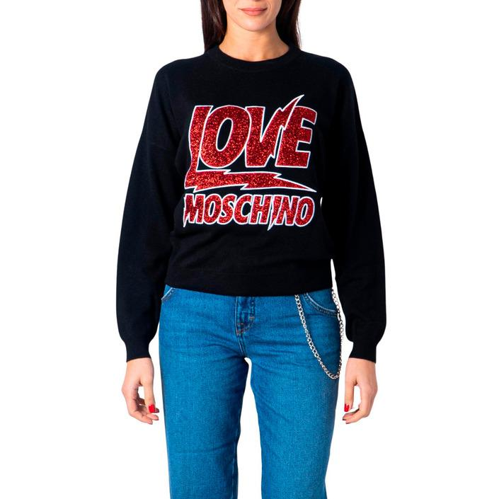 Love Moschino Women's Sweatshirt Black 180805 - black 38