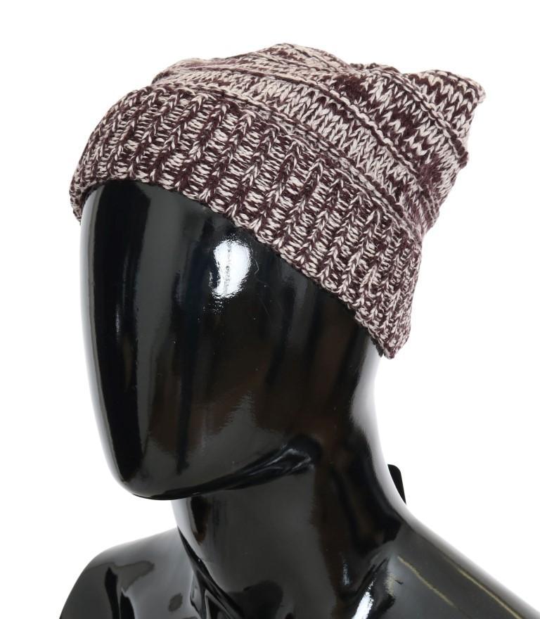 Dolce & Gabbana Men's Wool Winter Beanie Bordeaux HAT70000