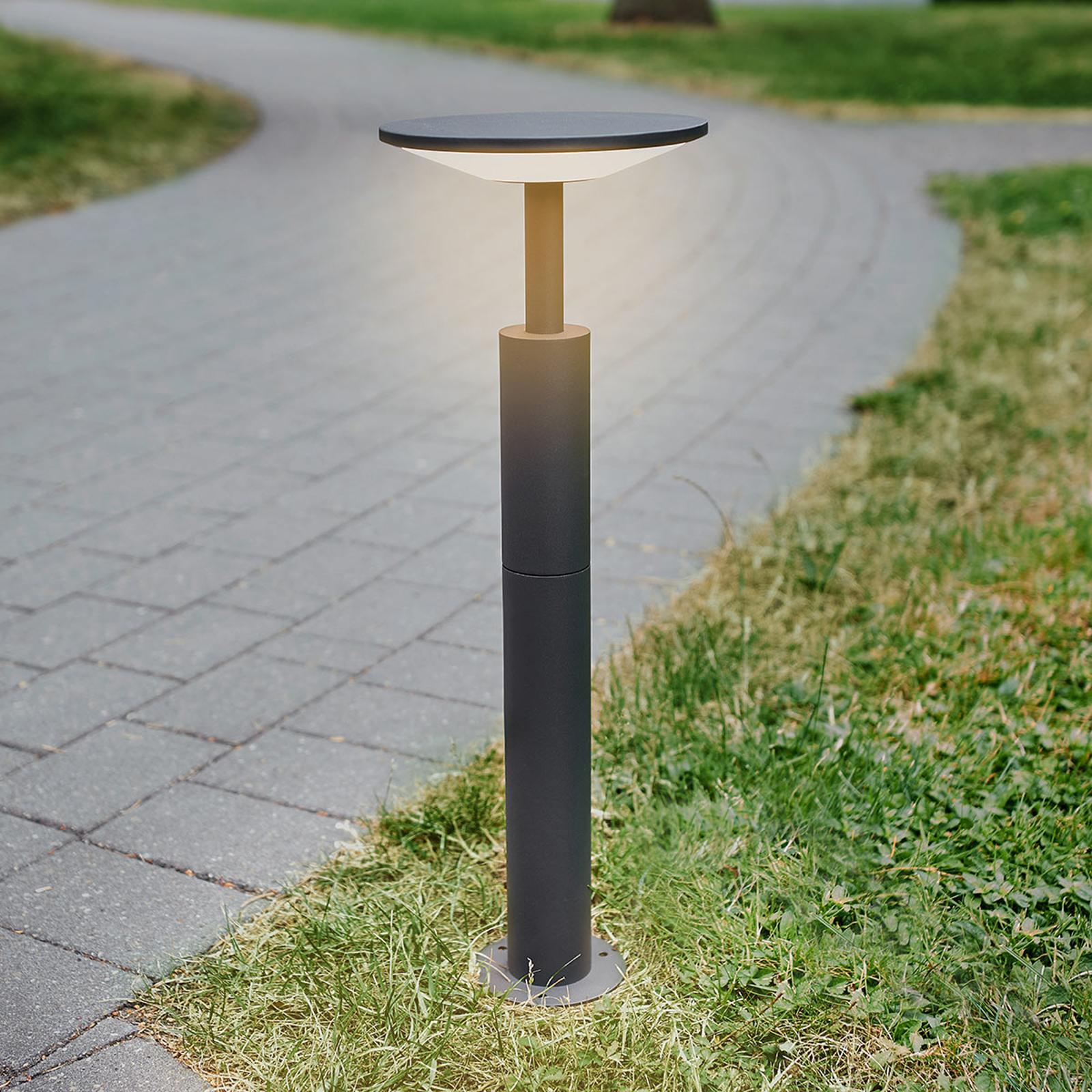 Antrasiitinvärinen LED-pylväsvalaisin Fenia