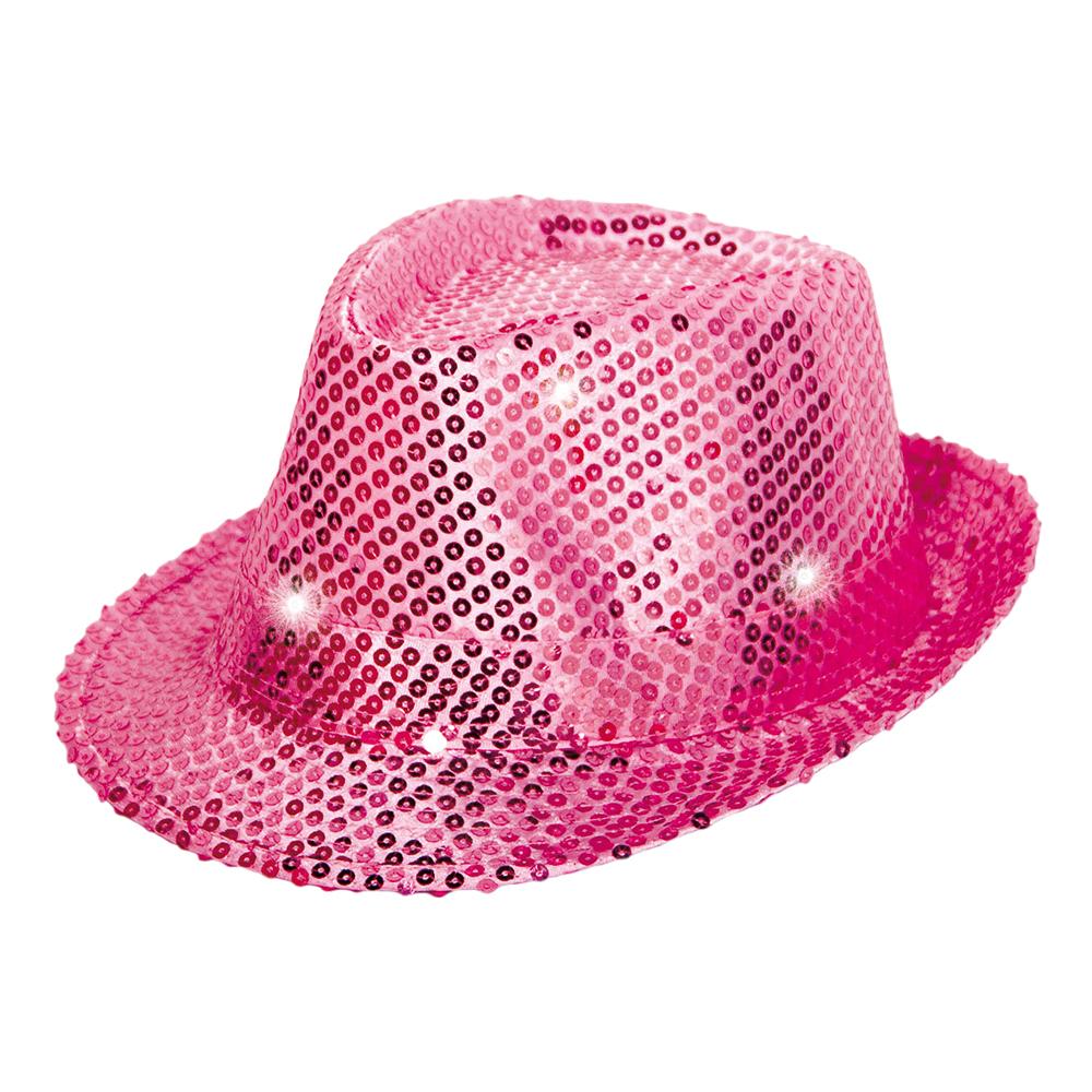 Trilby Paljetthatt Rosa LED