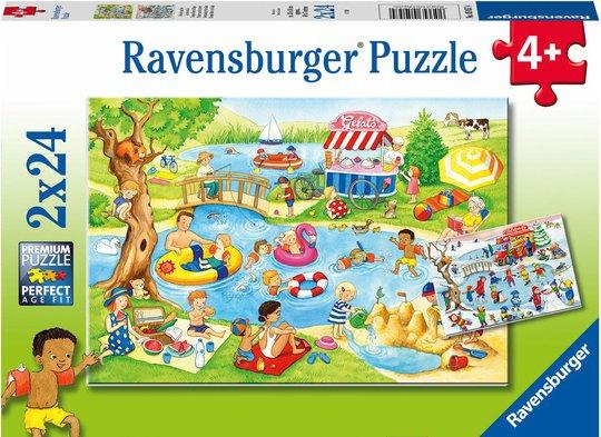 Ravensburger Puslespill Svømming Ved Sjøen 2x24 Brikker