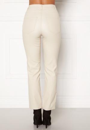 Happy Holly Maja coated pants Light beige 36