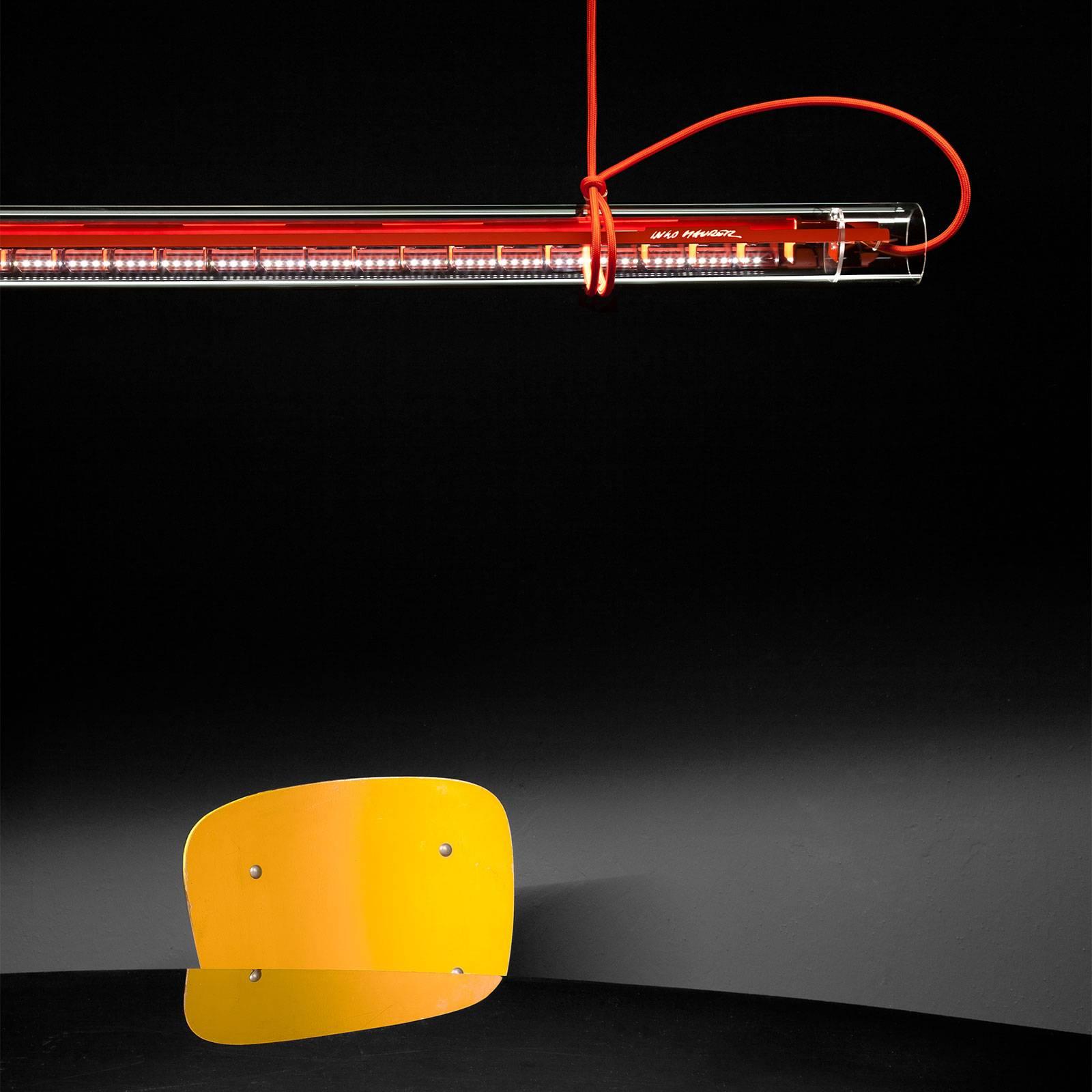 Ingo Maurer Tubular -LED-riippuvalaisin punainen