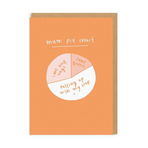 Mum Pie Chart Greeting Card