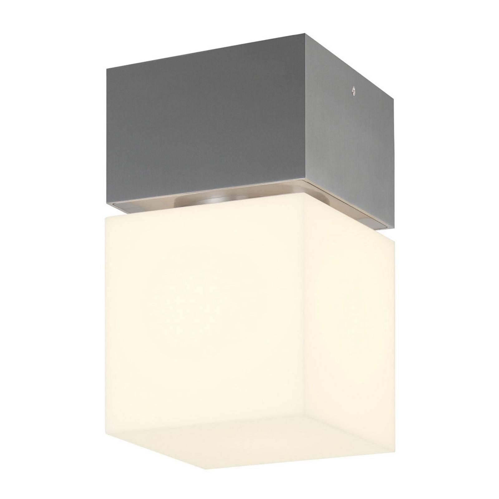 SLV Square utendørs LED-taklampe, rustfritt stål