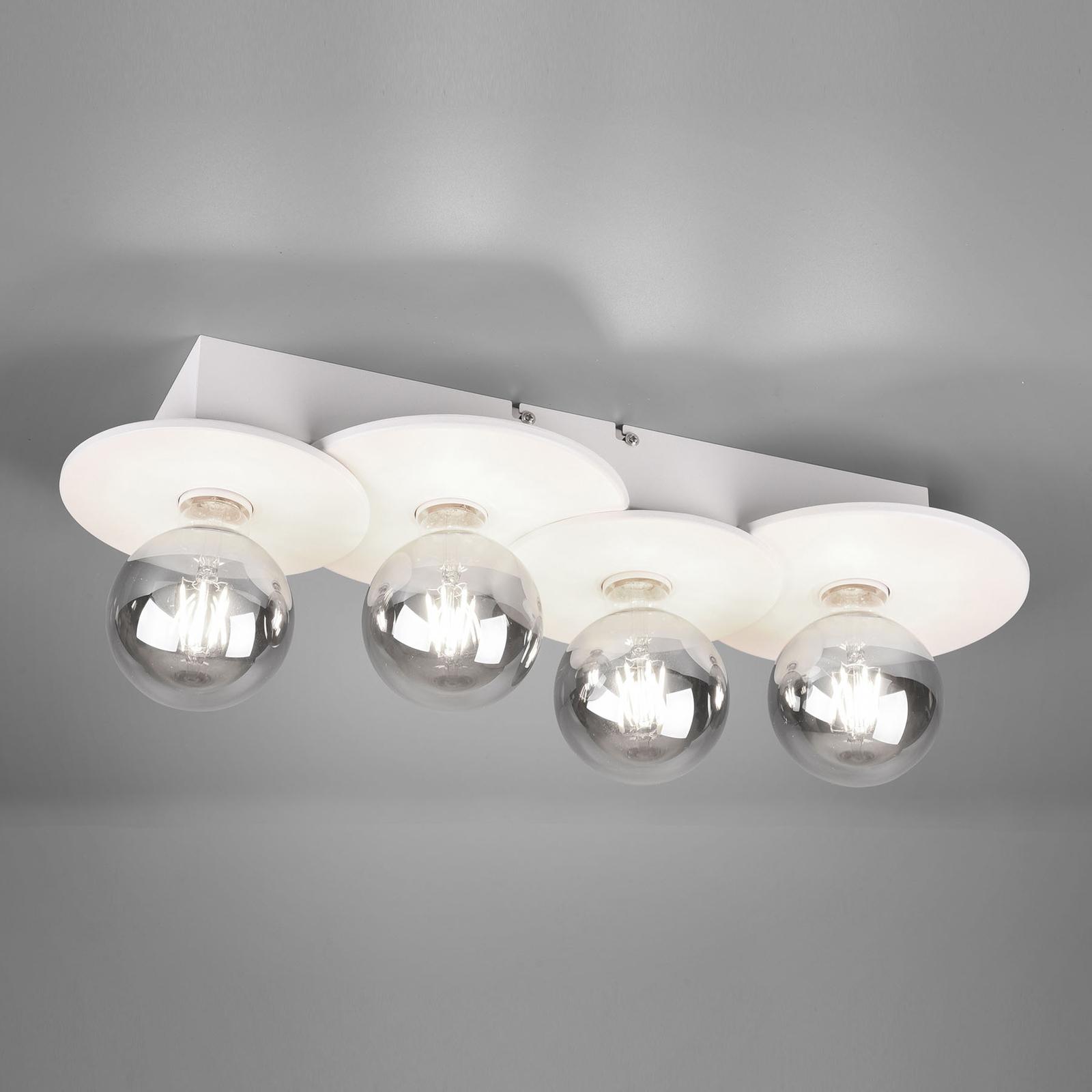 Kattovalaisin Discus, 4-lamppuinen, valkoinen