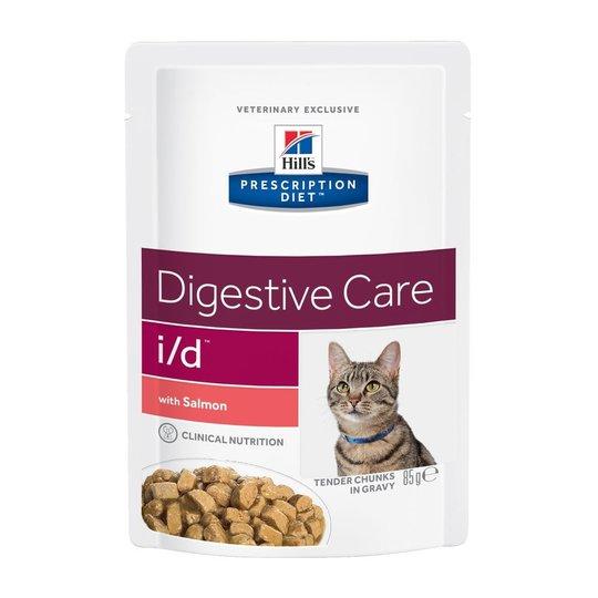 Hill's Prescription Diet Feline i/d Digestive Care Salmon 12x85 g