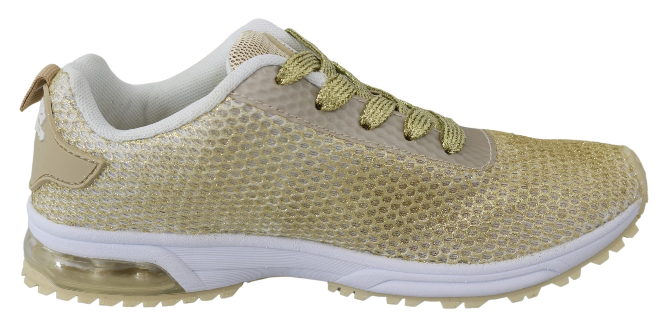 Gold Polyester Gretel Sneakers Shoes - EU36/US6