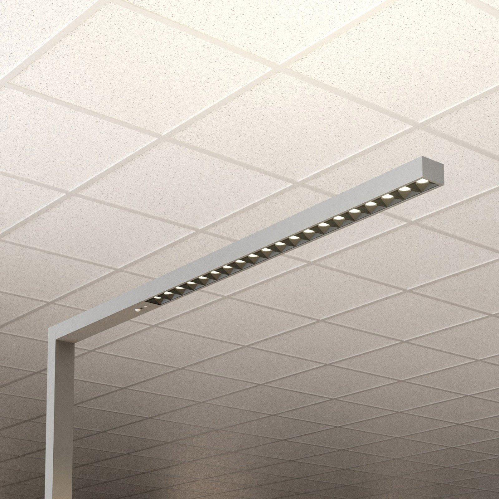 LED-gulvlampe kontor Laris, sølv, 3 000 - 6 000 K