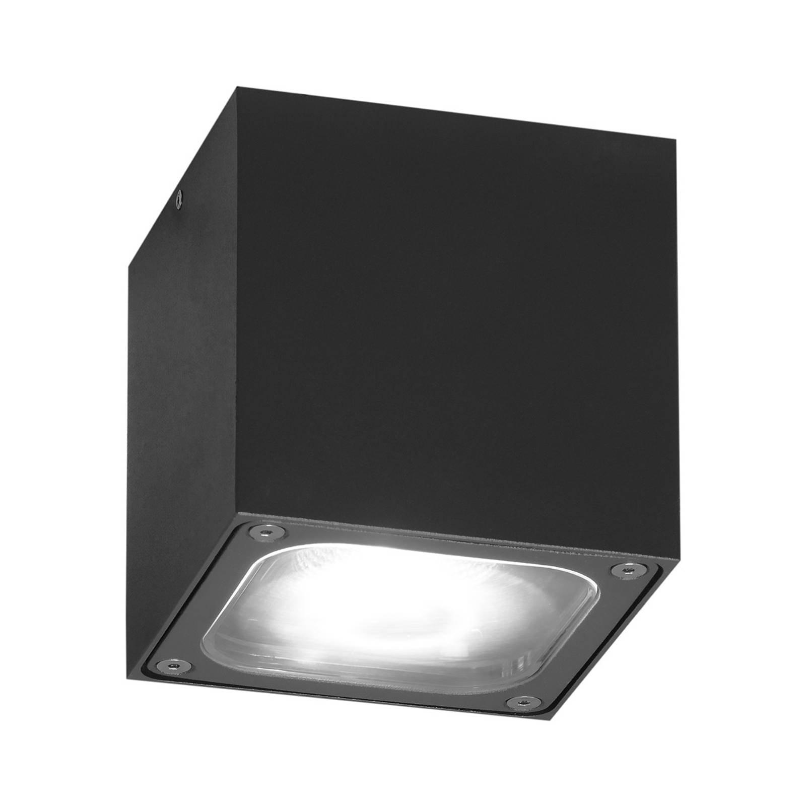 Cesena LED-taklampe i terningform antrasitt