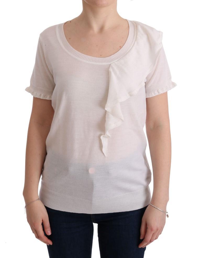 MARGHI LO' Lana Wool Top White SIG30146 - IT46|XL