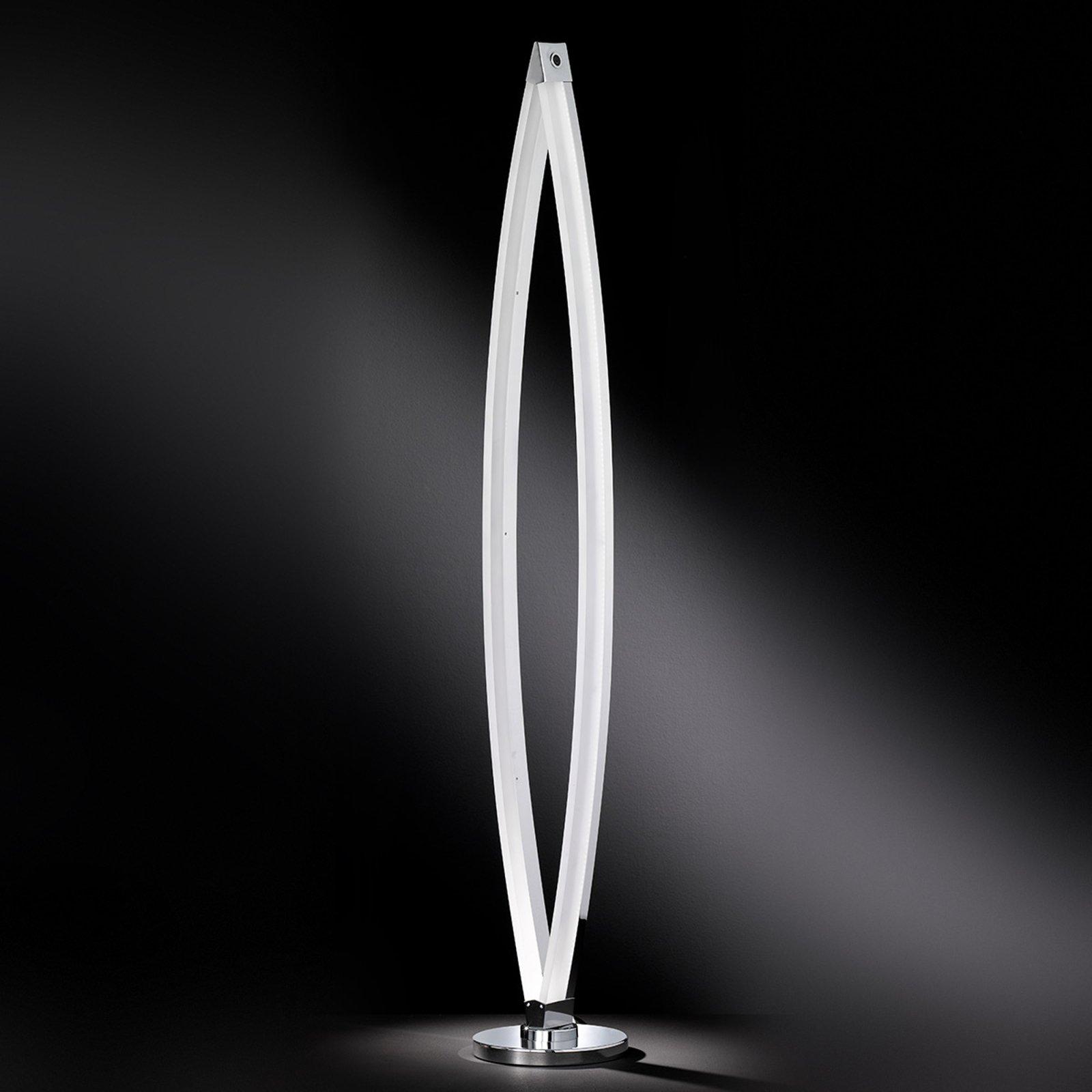Tidsriktig stålampe Vannes med LED-lys