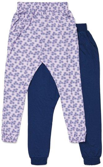 Luca & Lola Ada Bukse 2-Pack, Blue/Lavender 110-116