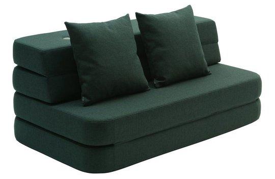 by KlipKlap 3 Fold Sofa, Deep Green