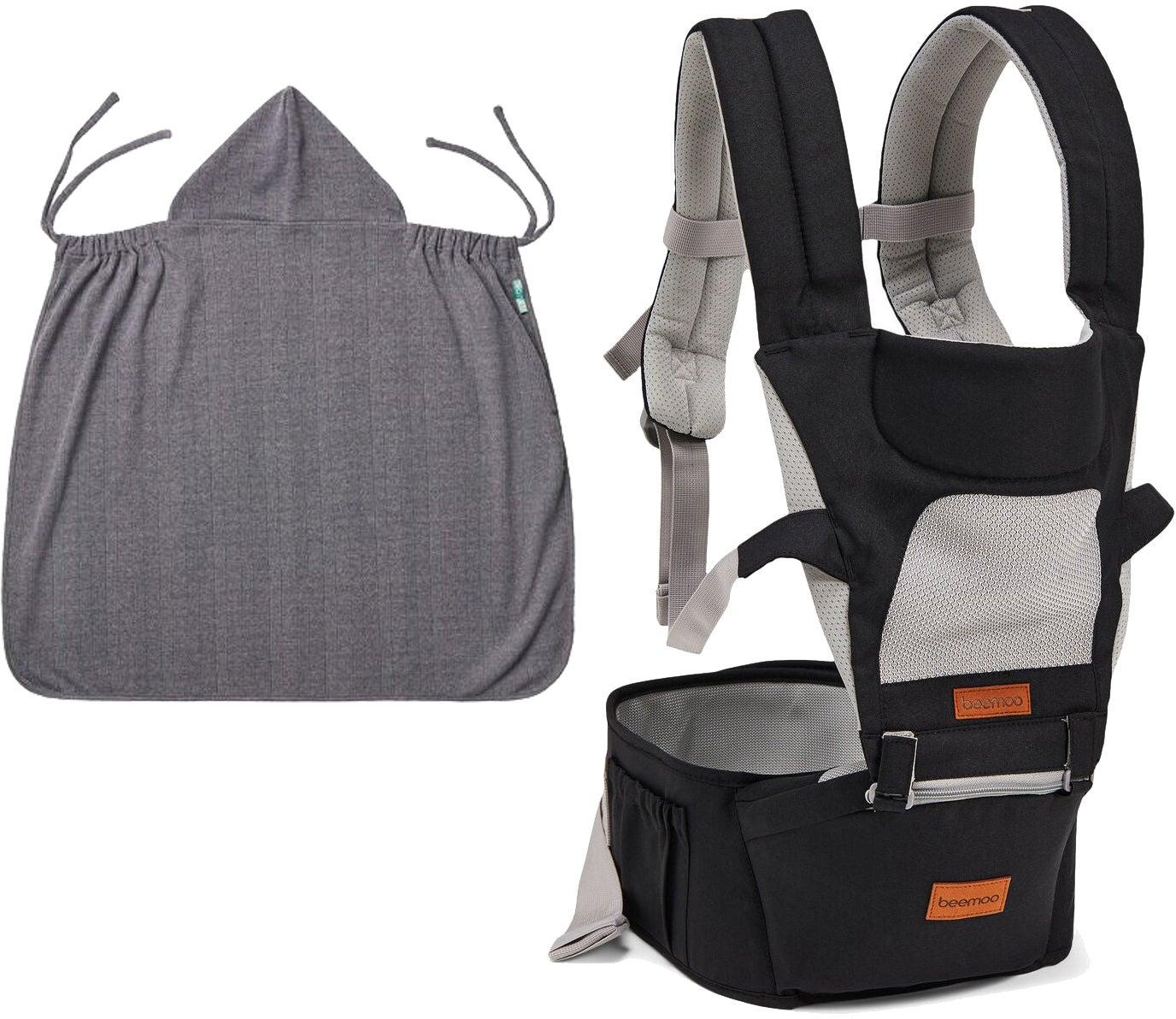 Beemoo Carry Comfort Air Bärsele inkl Överdrag, Black