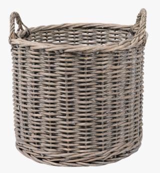 Basket rund kori harmaa
