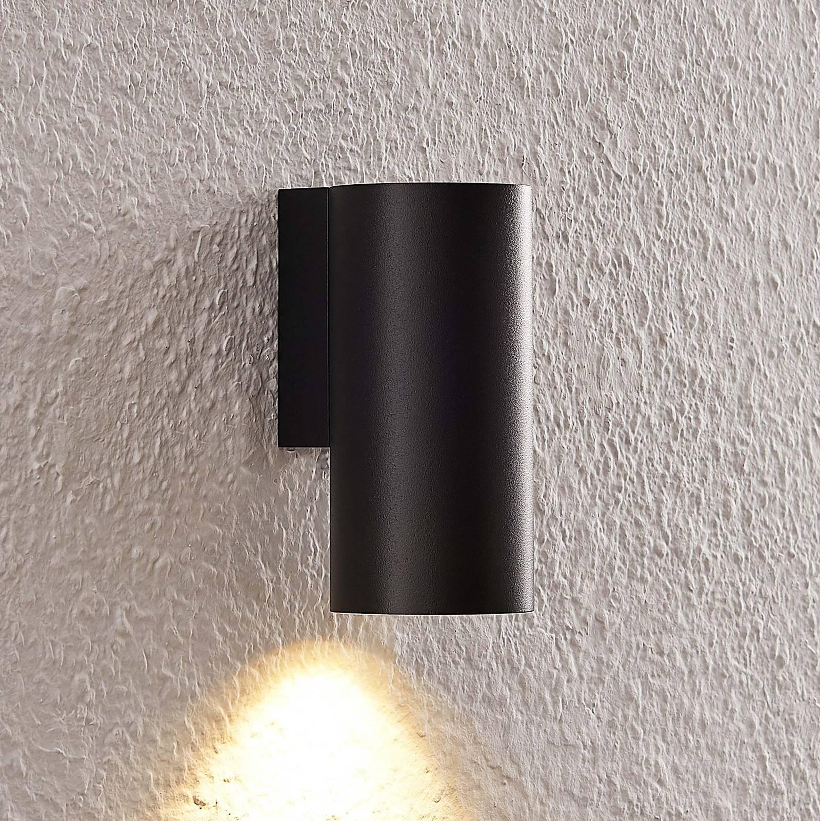 Arcchio Dilana -seinävalo, pyöreä, 1-lamp., musta