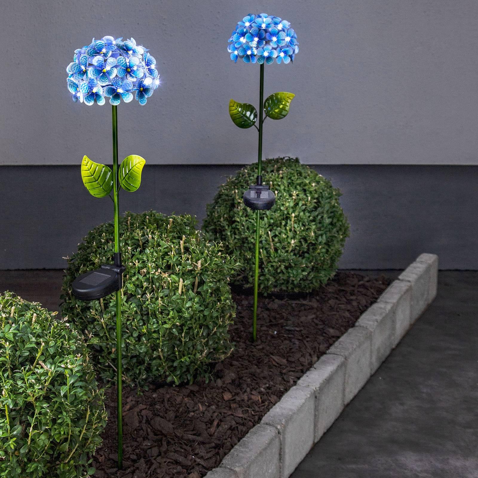 Kukan mallinen Hotensia-valaisin, sininen
