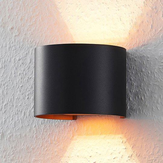 Musta-kultainen LED-seinävalaisin Zuzana, G9