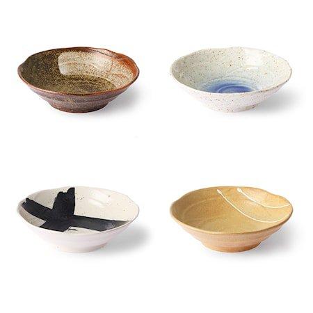 Kyoto Ceramics Japanese Skåler 4 stk