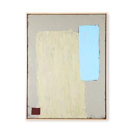 Abstract Målning Pistachio/blue 60x80cm