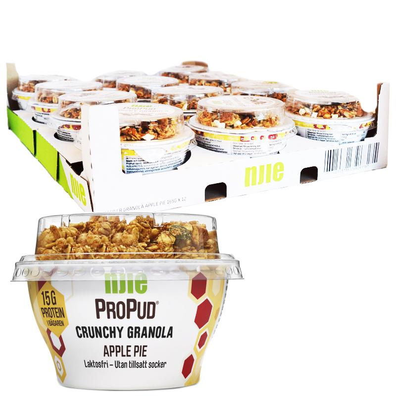 "Hel Platta Proteinpudding ""Crunchy Granola"" 12 x 165g - 38% rabatt"