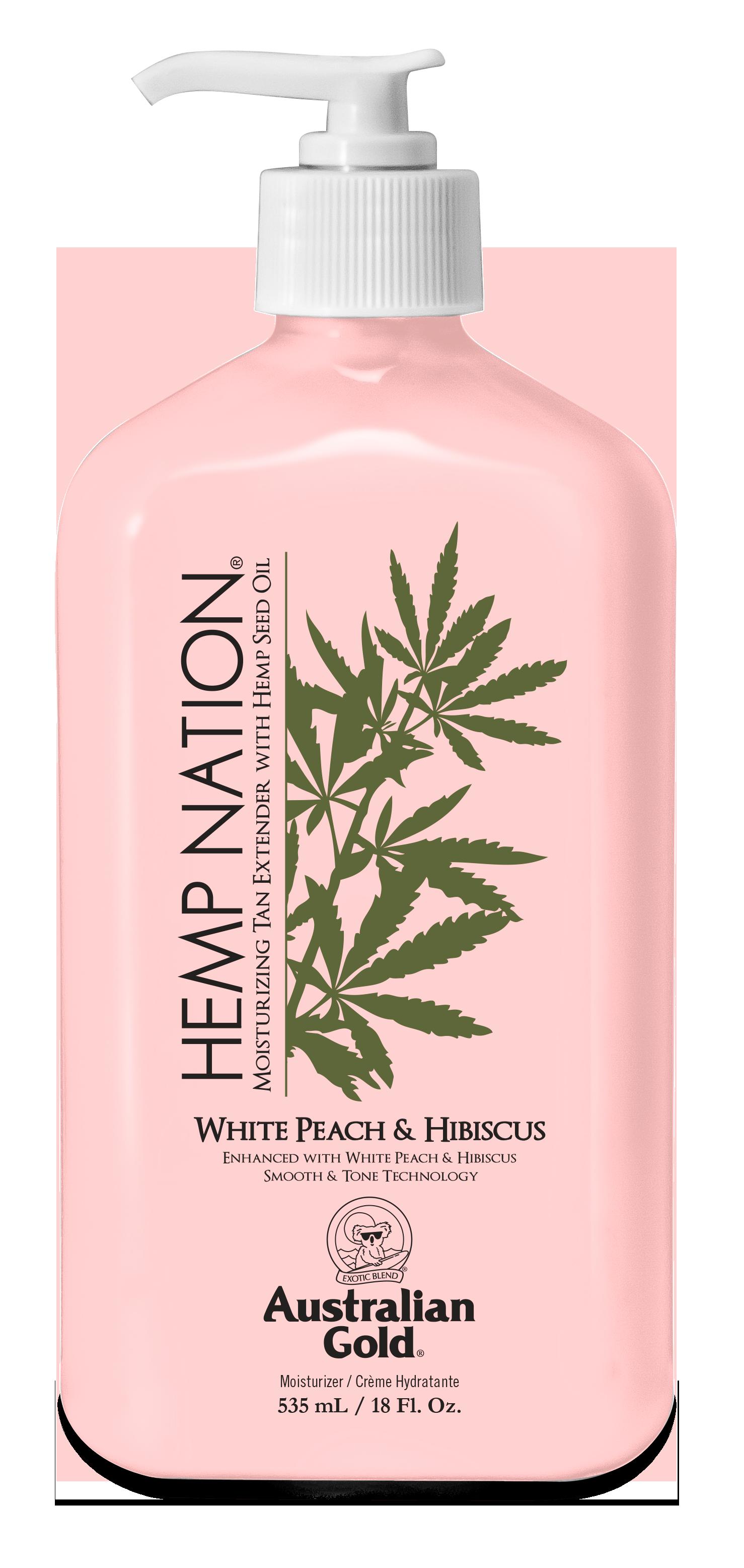 Australian Gold - Hemp Nation White Peach & Hibiscus Tan Extender Body Lotion 535 ml