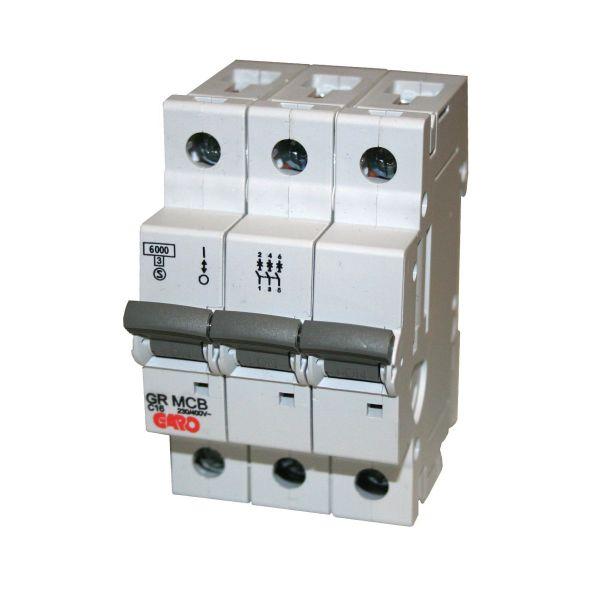 Garo MCB GR B306 Automaattisulake 3-napainen, 6 kA, tyyppi B 6 A