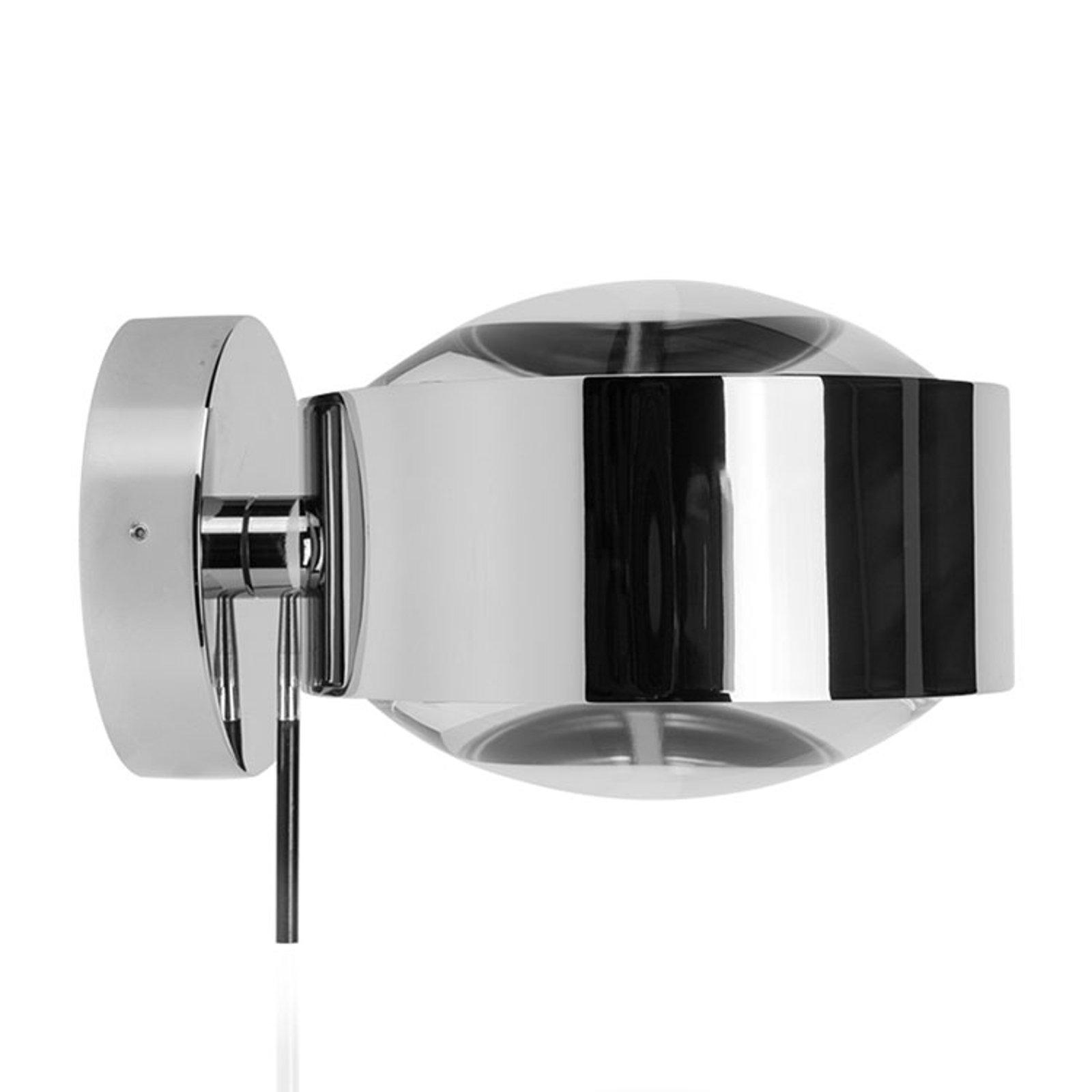 LED-vegglampe Puk Maxx Wall+, krom