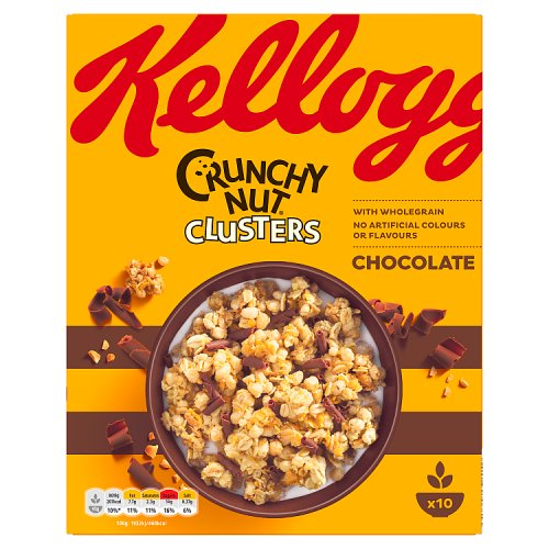 Kelloggs Crunchy Nut Chocolate Clusters 450g