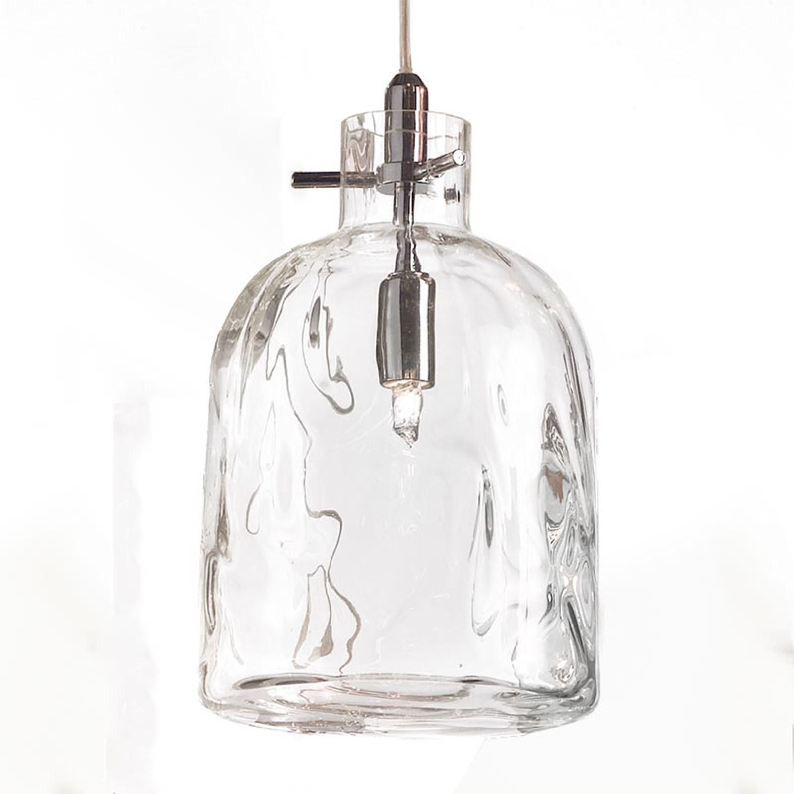 Design-riippuvalaisin Bossa Nova 15 cm läpinäkyvä