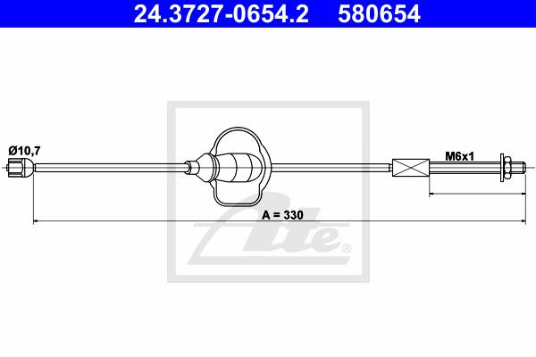 Käsijarruvaijeri ATE 24.3727-0654.2