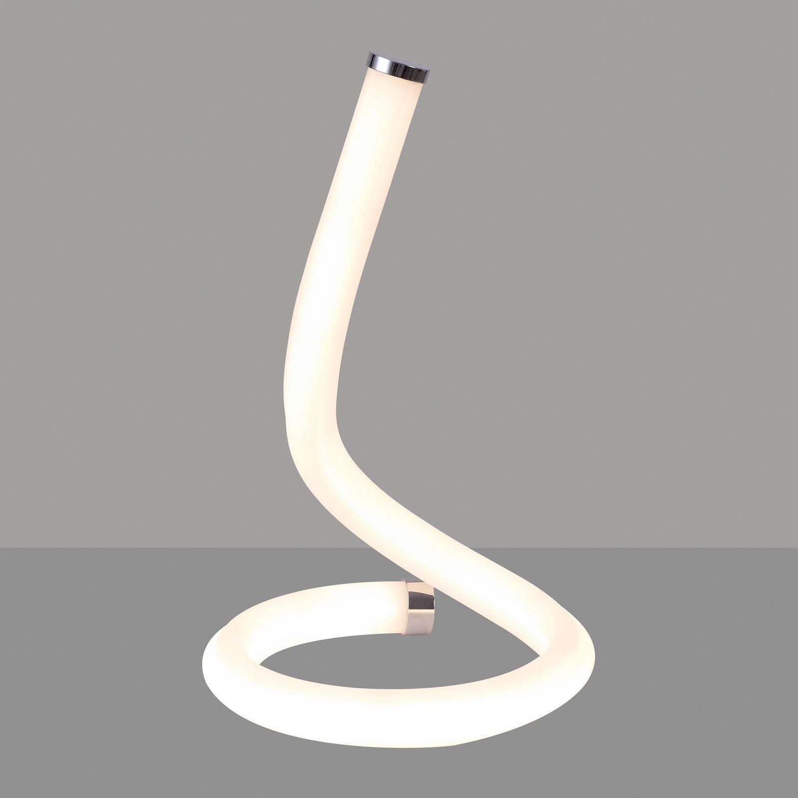 Nur Line LED-bordlampe i krom og hvitt