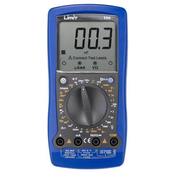 Limit 500 Multimeter inkl. batterier